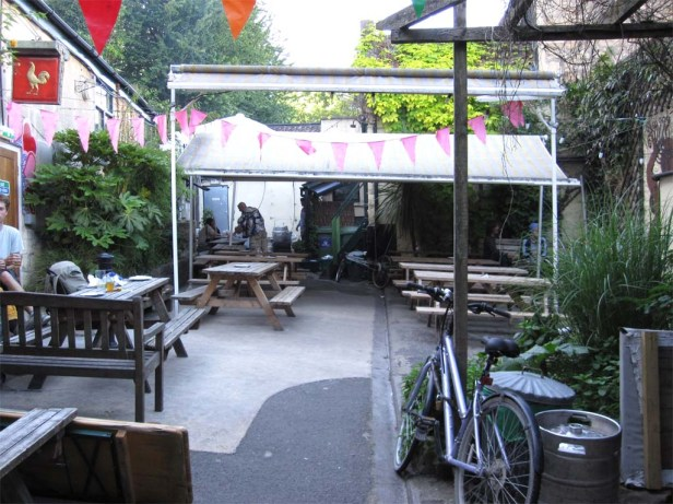 The garden at The Bell in Bath