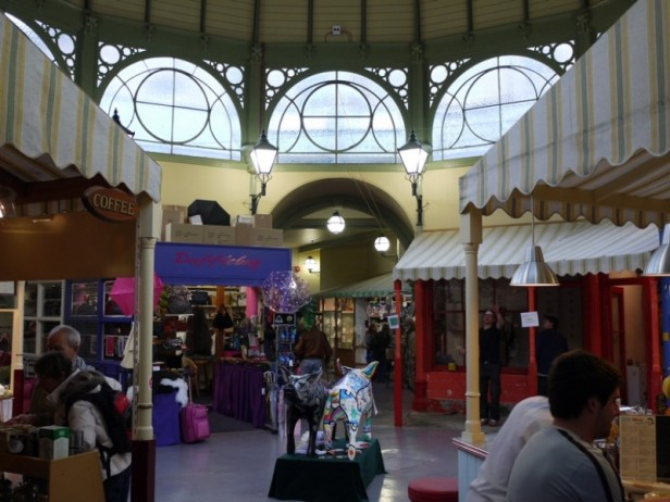 The pretty interior of Guildhall Market, Bath