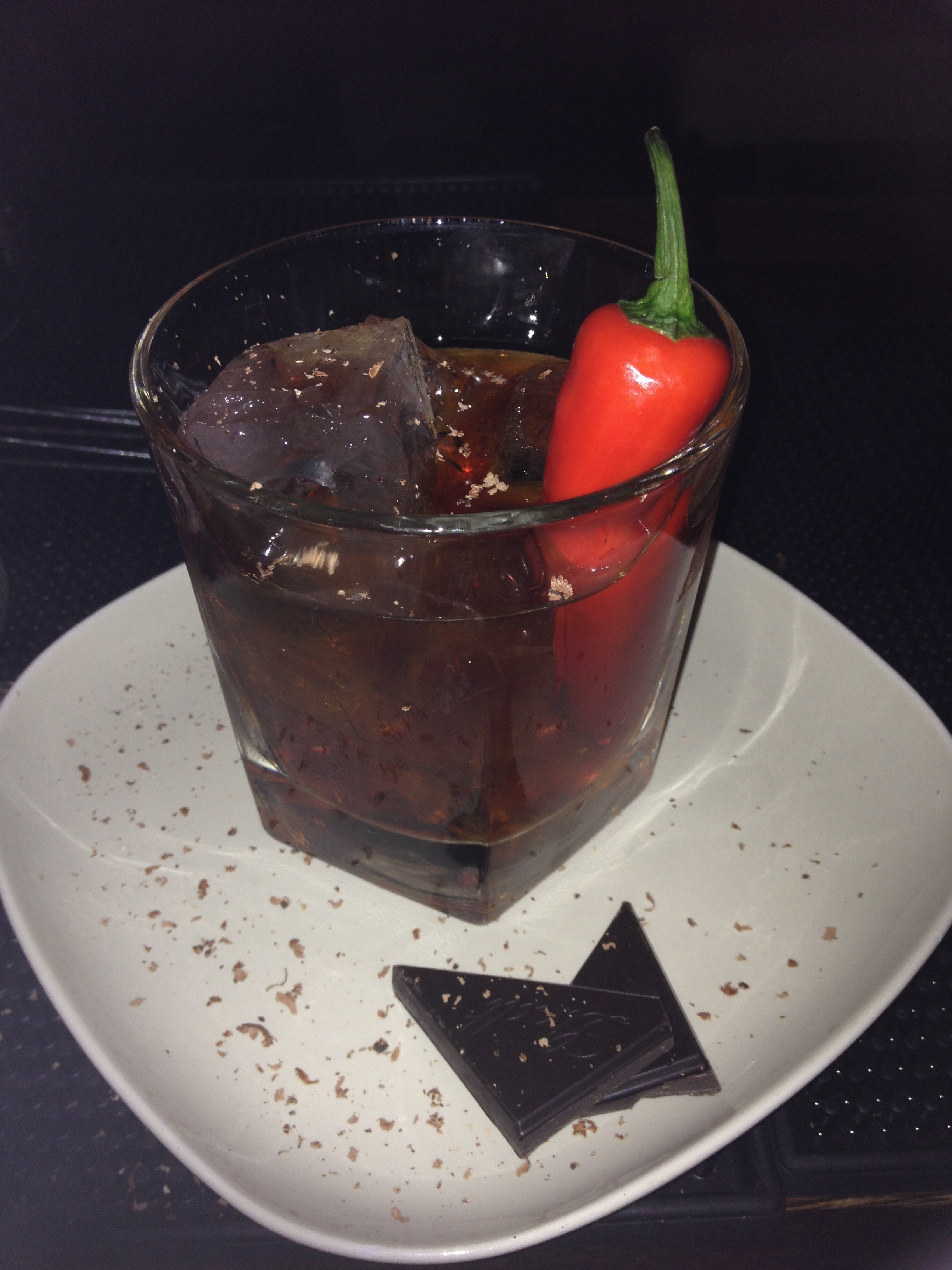 One of the many exciting cocktail combinations from Sub 13: Chilli Chocolate!