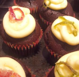 Cocoa stout and chilli cupcakes from Maud's Treats