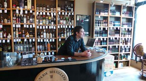 Floor to ceiling beers and spirits at Independent Spirit in Bath - worth visiting for their events too.