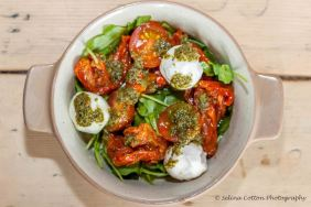 One of the veg tapas choices at The Lounges: Tomato & Mozzarella salad
