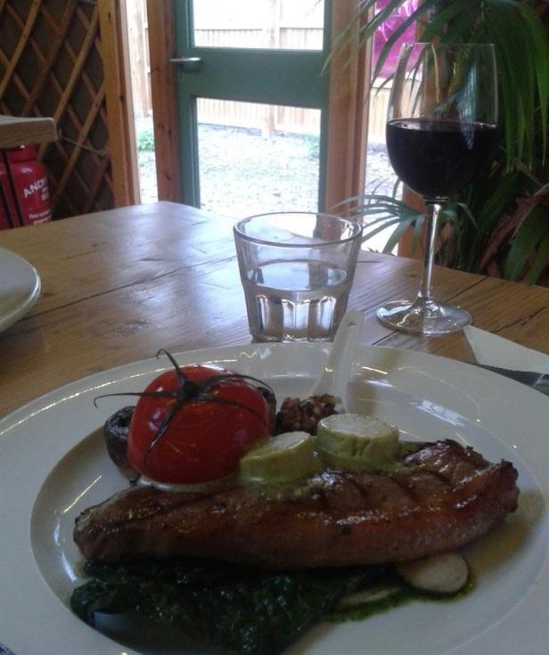 Steak at Yurt Lush