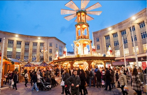 The German Christmas Market in Broadmead.
