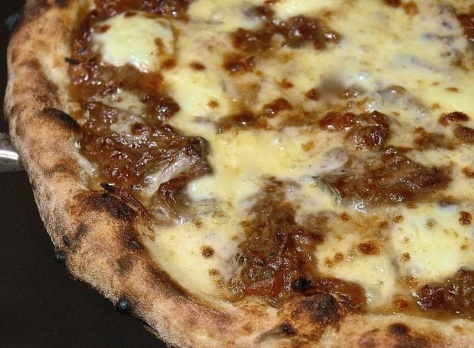 Ox cheek ragu pizza at Flour & Ash - mmmm.
