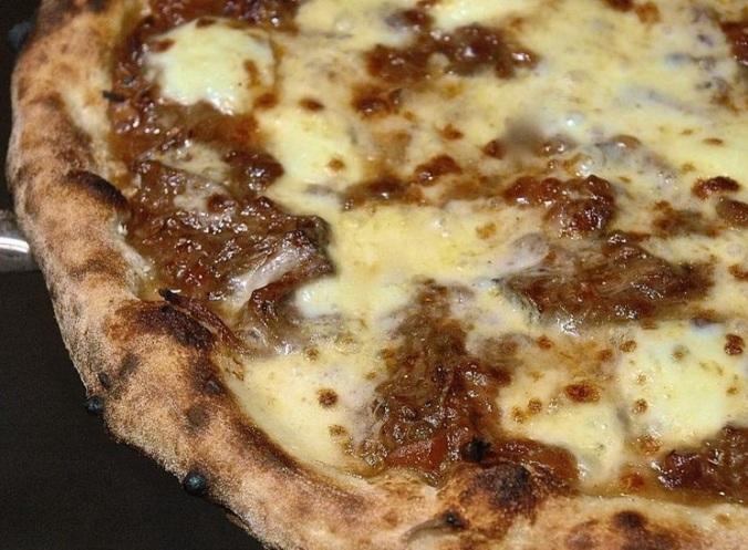 Ox cheek ragu pizza at Flour & Ash - mmmm.