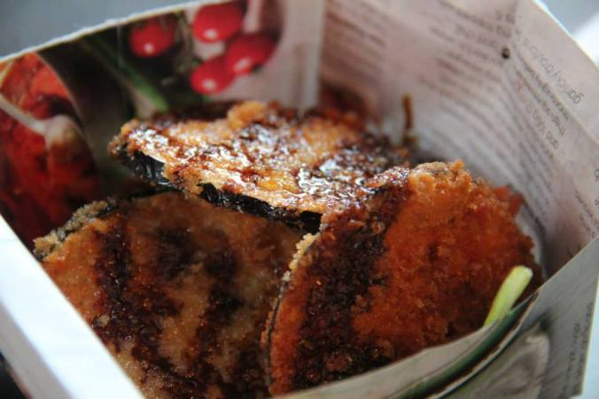 Panko aubergine chips from Asia Pop!