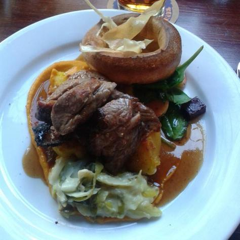 The beef roast at The Bank Tavern - comforting yet sophisticated.