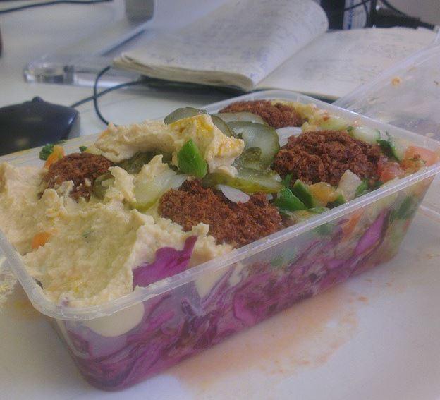 The salad box at Eat a Pitta
