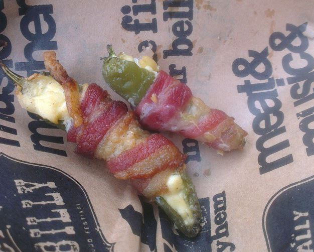 Bacon, cream cheese and jalapeno poppers from Grillstock