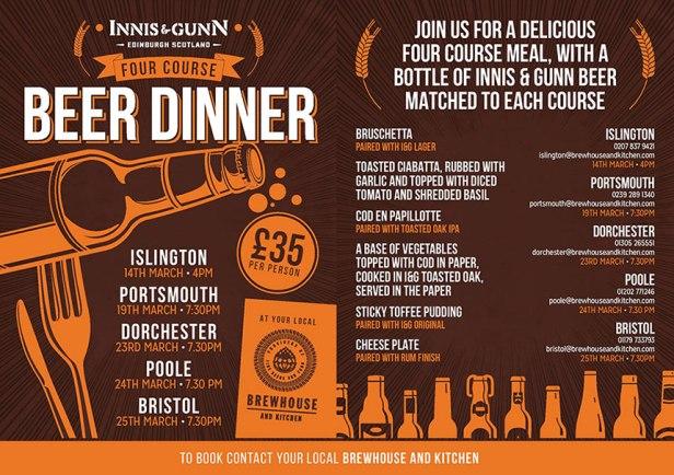 Innis and Gunn beer dinner