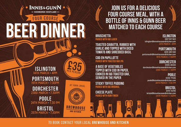 Innis and Gunn beer dinner