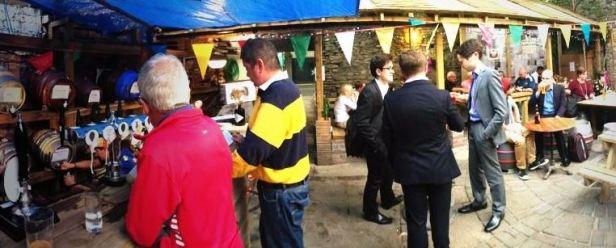 Beerfest at The Volunteer Tavern - bunting and kegs aplenty!