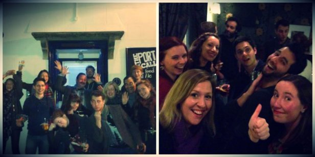 The pubcrawl gang - happy faces!