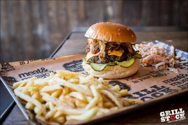 The Smokestack Burger at Grillstock