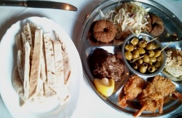 Starter selection at La Casbah - a mini feast. (Credit: Maria's Bristol)