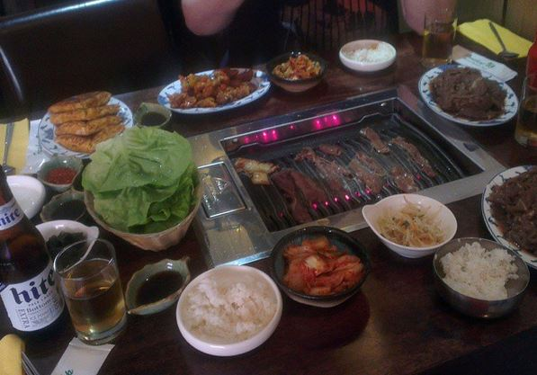 Korean table BBQ - very special!