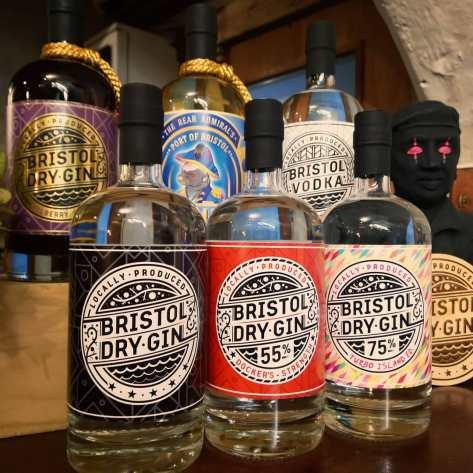 Bristol Dry Gin bottles