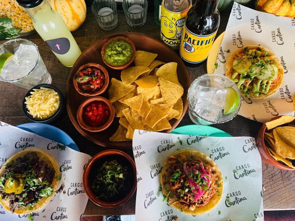 Tacos, nachos and dips