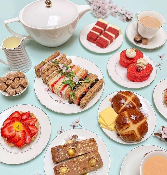 Easter afternoon tea Skyboat Cafe