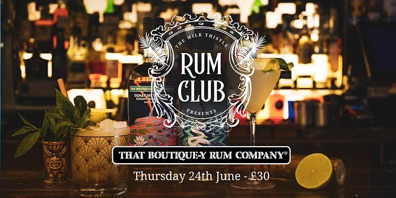 Milk Thistle Rum Club poster