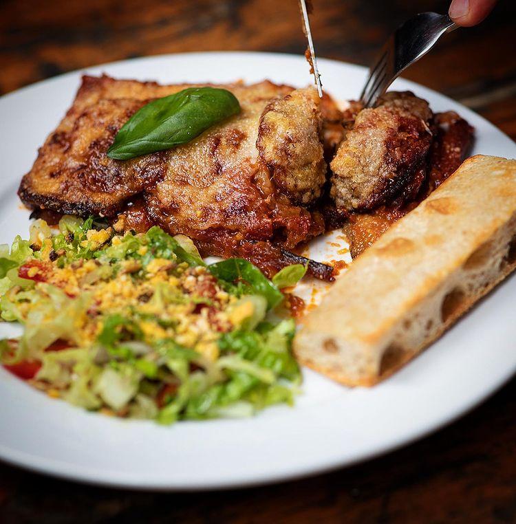Grano Kitchen parmagiana and salad