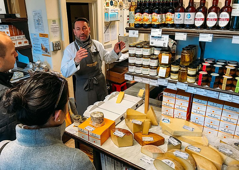Bath food tour at cheesemongers