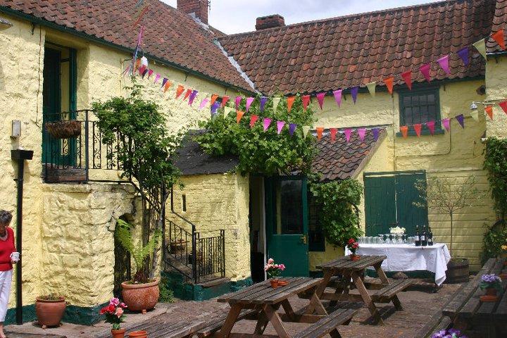 The courtyard at The Angel Inn