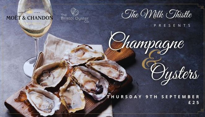 Champagne and oysters poster